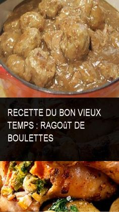 Recette du bon vieux temps : Ragoût de boulettes #Recette #Bon #Vie #Boulettes #Temps #Bonvieuxtemps #Bon #Boule