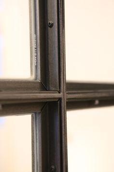 Metal Window Frames, Steel Frame Doors, Steel Doors And Windows, Metal Windows, Iron Windows, Gate Design, Door Design, Warehouse Design, Joinery Details