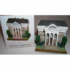 First Bank Of Liberty Falls AH233  Christmas gift for the banker on your list. A little bank building to decorate your house for the holidays.