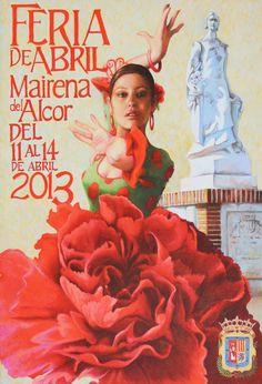 Feria de Abril 2013 Spain Culture, Carnival Festival, Vintage Travel Posters, Just Dance, Spanish Style, Spain Travel, Fashion Art, Disney Characters, Fictional Characters