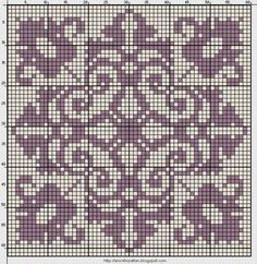 Meant for cross stitch but I don't see why you couldn't use it for filet crochet. Blackwork Cross Stitch, Biscornu Cross Stitch, Cross Stitch Charts, Cross Stitch Designs, Cross Stitching, Cross Stitch Embroidery, Cross Stitch Patterns, Crochet Chart, Filet Crochet