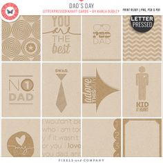 Dad's Day Kraft Cards - album cards