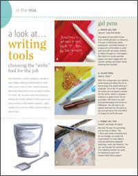 Understand the best art journal tools for the job with this informative look at writing tools.