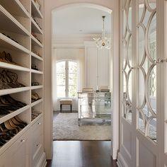 Built In Shoe Shelves Transitional closet.. Lovely lady hangout room who\u0027s got & 158 best Closet \u0026 dressing room images on Pinterest in 2018 ...