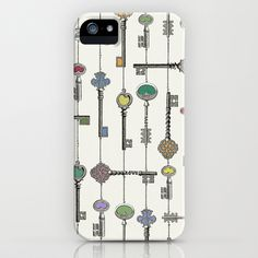 Love is the Key iPhone & iPod Case by Paula Belle Flores - $35.00