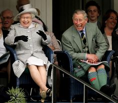 H.M The Queen with HRH Prince Charles having. Lovely time Credit - The Lady In Tweed