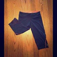 Champion Running Capris I'm selling a pair of Champion running capris. They've been worn a couple times but are in good condition. They have a back pocket and a draw string. They work great for running. Champion Pants Capris