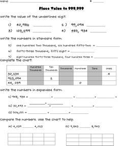 image result for place value worksheets 4th grade pdf elementary math ideas place values. Black Bedroom Furniture Sets. Home Design Ideas