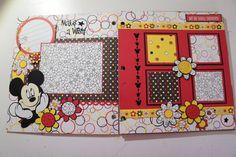 Disney paper bag album pages