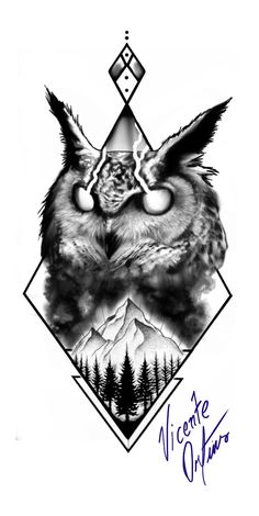 Wolf Tattoo Design, Skull Tattoo Design, Tattoo Designs, Badass Tattoos, Body Art Tattoos, Tattoos For Guys, Tattoo Studio, Blackwork, Owl Tattoo Chest