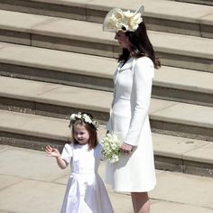 Mother and daughter Duchess of Cambridge and Charlotte