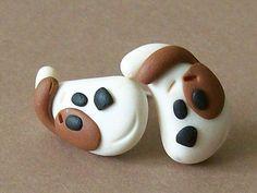 Lovely stud earrings polymer clay fimo handmade por CreationsbyMD, $54.00