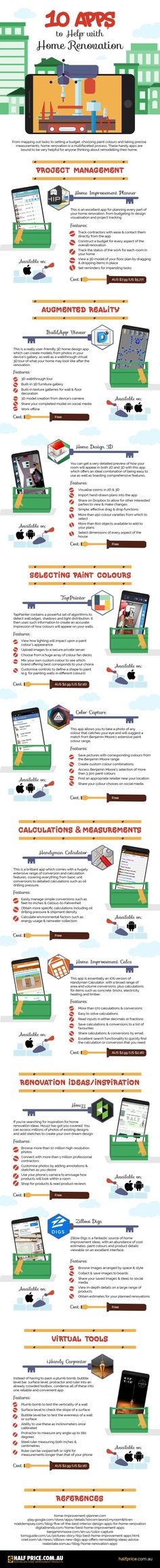 10 Apps To Help With Home Renovation #Infographic #Apps #HomeRenovation
