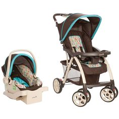 "Safety 1st Saunter Travel System - Happy Pears - Safety 1st - Babies""R""Us $229"