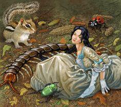 Christina Wald :: Illustrator. Thumbelina in Trouble