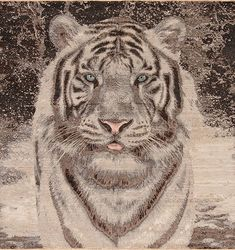 Animal Kingdom - White Tiger - Samad - Hand Made Carpets Tiger Home, Pet Tiger, Home Rugs, Grey Rugs, Modern Rugs, Textile Patterns, Animal Kingdom, Carpets, Moroccan