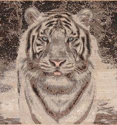 Animal Kingdom - White Tiger - Samad - Hand Made Carpets Tiger Home, Pet Tiger, Home Rugs, Grey Rugs, Modern Rugs, Textile Patterns, Animal Kingdom, Antiques, Carpets