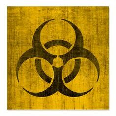 Vintage Biohazard Shower Curtain > Vintage Biohazard