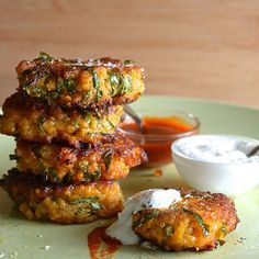 Sweet potato, kale and quinoa fritters