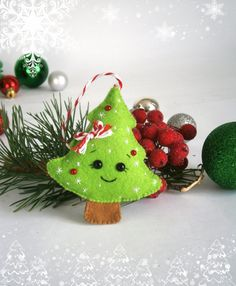Christmas Ornaments felt Christmas tree decor New year gift Christmas decorations felt Tree ornament felt Tree felt advent new year toys
