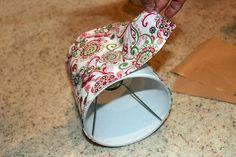 Easy, #DIY lamp shade covers! #lamps #shade