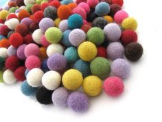 Felt Balls Color Mix - 50 Pure Wool Beads 15mm - Multicolor Shades – AnnyMay