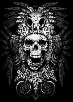 69 trendy tattoo designs quetzalcoatl - DIY And Crafts Aztec Tattoo Designs, Skull Tattoo Design, Best Tattoo Designs, Skull Design, Skull Tattoos, Body Art Tattoos, Sleeve Tattoos, Tatuagem Azteca, Sculpture Tattoo