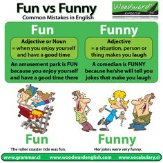 The difference between FUN and FUNNY in English. http://www.LRNGO.com/learn-english is where the world goes to learn English form each other. #ESL #English #LearnEnglish