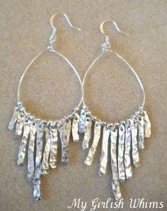Anthro knock-off earrings. #DIY