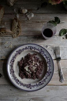 Red Wine Risotto-Valentines Day Dinner - From My Dining Table by Skye McAlpine