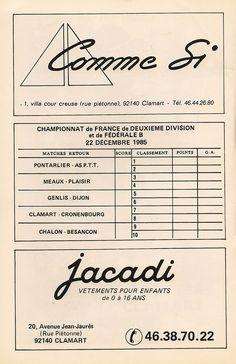 Calendrier 1985-1986 - 2ème Division - Page 22