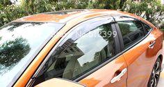 Window Visor Deflector Guard Cover For Honda Civic 10th Gen 4dr Sedan 2016 2017