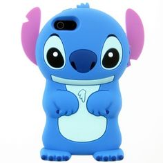 Cute 3D Cartoon Stitch with Movable Ears Silicone Soft Case Cover for iPhone 6, 4.7inch - iPhone 6 Cartoon Cases - iPhone 6 Cases - iPhone Cases