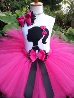 Barbie inspired Tutu set. Girls tutu Barbie by Partyadvantage