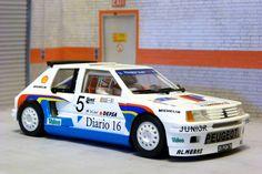 Spirit 400506. Peugeot 205 T 16. Rally Costa Brava 1986. Antonio Zanini-Josep Autet. #slotcar