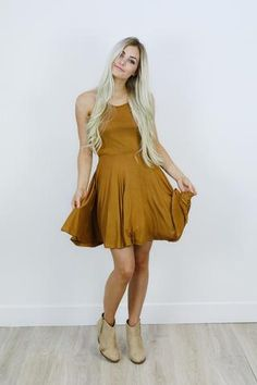 *Everly Halter Dress - Shop AOF Top - 1