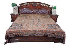 INDIAN-PASHMINA-BEDSPREAD-REVERSIBLE-BED-COVER-BLANKET-BEDDING-BEDROOM-DECOR  http://stores.ebay.com/mogulgallery