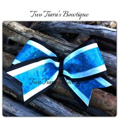 Cheer bows by Two Tiara's Bowtique on Etsy and Facebook!