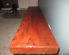 Reclaimed wood bench with industrial pipe by KReativeWOODworking