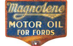 Original Magnolene Motor Oil Lubester Sign