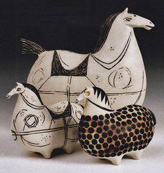 Stig-Lindberg-swedish-ceramic-horses PINNED by My Art y Lezama