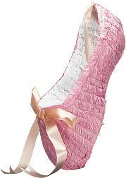 Ballet Shoes Pinata with Pull String Kit by Shindigz. $12.99. Ballet Slipper Pinata This Pink Ballet Slipper Pinata will have your guests twirling for candy. Filler sold separately. Pull-String Kit is included. Each Ballet Slipper Pinata is handmade, therefore no two pinatas will look exactly the same. Shape may vary slightly from pinata shown. Each ballet slipper pinata measures 8 inches x 8 1/2 inches x 14 inches. Pinata Filler 1.4 lb. bag of assorted toys and candy.