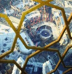 An areal view taken from the clock tower #Mecca