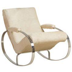 Chromium Steel Rocking Chair Designed by Milo Baughman, 1970s