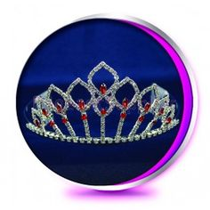 The Red Aria Pageant Crown or Wedding Princess Tiara (Homecoming, Prom, Bridesmaid, Birthdays, Bachlorette, etc)