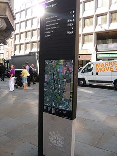 City wayfinding Liverpoolstreet by designworkplan, via Flickr