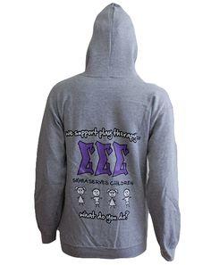 "Sigma Sigma Sigma Therapy Zip Up by Adam Block Design | Custom Greek Apparel & Sorority Clothes | www.adamblockdesign.com"""