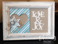 We love this holiday frame.