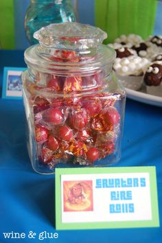 Skylander Party Candy Table