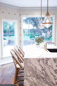 Modern white marble